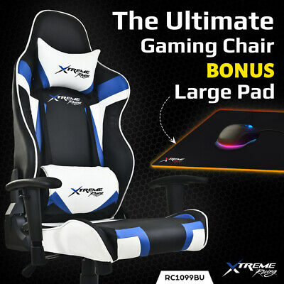 Xtreme Racing Gaming Office Chair PU Leather Computer Executive Recliner Seat A