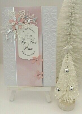 Handmade Christmas Card: Touch of Colour Poinsettia (Pink)