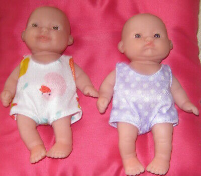 Berenguer doll 5 inch original outfits x 2 new Clothing only Dolls not included