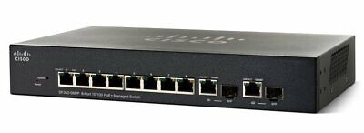 Cisco Small Business SF302-08P 8-Port POE Managed Switch + Power Supply Adapter