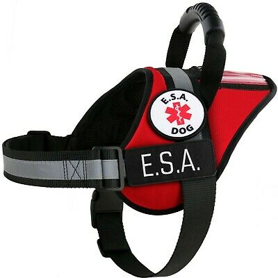 ESA Emotional Support Animal Vest Support Dog Harness - No Pull Handle ID Pocket