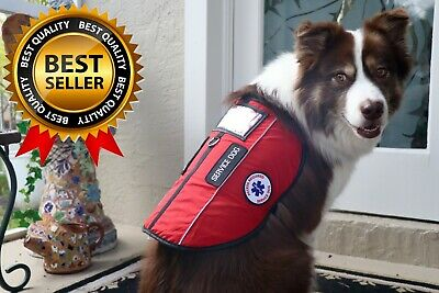 Service Dog Harness Lightweight Padded Pet Vest - ID Pocket Patches -  ADA Cards