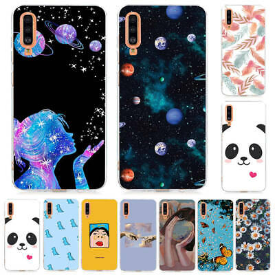 For Samsung A70 A50 A40 A30 A20e A10 Painted Soft Silicone TPU Phone Cover Case
