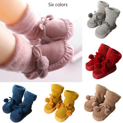 Baby Toddler Kids Anti-slip Crawling Socks Shoes thicken Slipper Boots