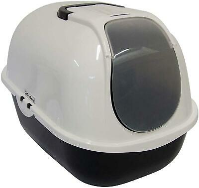 Cat Litter Tray With Lid And Door Hooded Deep Kitten Toilet Box Large Portable