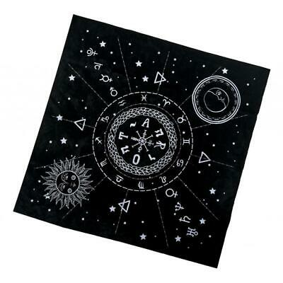 1x Constellation Tarot Table Card Cloth Velvet Tapestry 19.29in Square