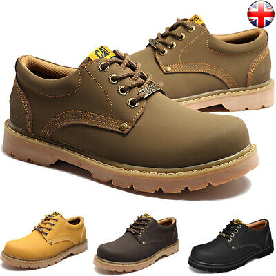 UK Mens Leather Oxford Driving Hiking Smart Casual Shoes Lace Up Walking Outdoor