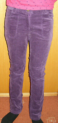 John Lewis Girls Purple fine cord Trousers Age 11