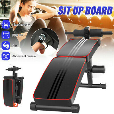 Adjustable Sit up Bench AB Flat Incline Decline Training Crunch Board Exercise B