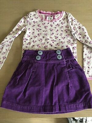 Mini Boden Outfit Age 7-8 Cord Skirt