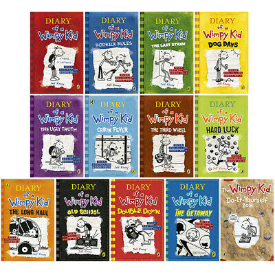 Jeff Kinney Diary of a Wimpy Kid 13 Books Collection Set,Rodrick Rules NEW