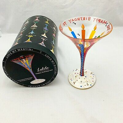 """LOLITA LOVE MY MARTINI /"""" ST LOUIS TINI/""""  HAND PAINTED WITH RECIPE NEW"""