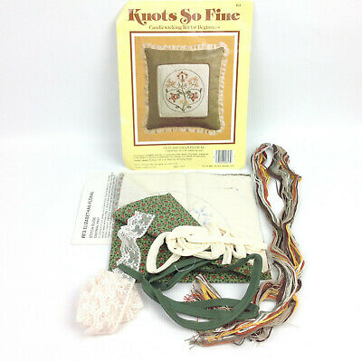 Knit So Fine Elizabethan Floral 1983 Candlewicking Pillow Kit For Beginners 813