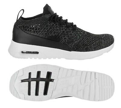 Nike Air Max Thea KJCRD Black Varsity White Flyknit New US_