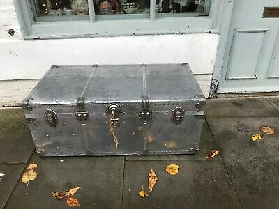 Vintage 1950,s Aluminium Aviation Trunk Made In Germany By Albana.