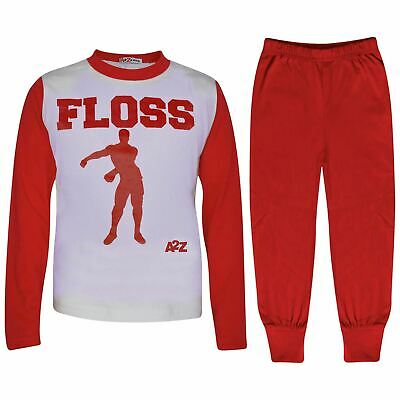 Kids Boys Girls Pyjamas Red Trendy Floss A2Z Print Xmas Loungewear Outfit Sets