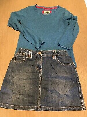 Mini Boden Denim Skirt And Top 9-10 Yrs Outfit