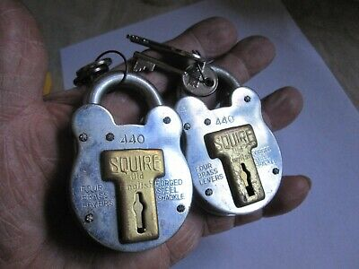 2 No Squire  440 Vintage Padlocks All With Two  Keys