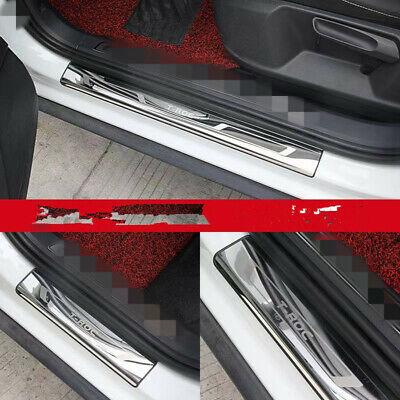 Stainless Steel Outer Door Sill Scuff Plate Cover For Volkswagen Tiguan 2018-19