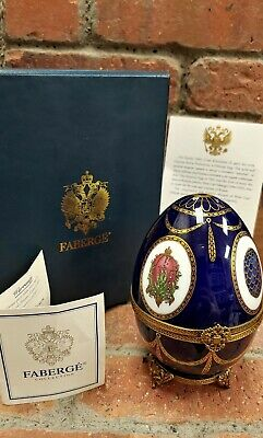 Faberge Musical Egg Swan #413 Sterling Silver Hand Painted w/ Box & Paperwork