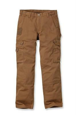 Carhartt Workwear B342 Ripstop Cargo Trousers Pant Brown Man Work W33/L30