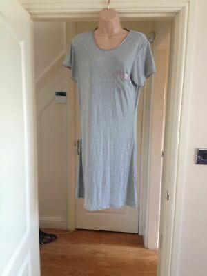 Camicia Da Notte Marks & Spencer Xl - Uk 16 Nightdress M&S Lingerie Cotton Grey