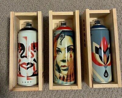 Shepard Fairey  Obey Giant X MTN Montana Spray Can Set Beyond The Street 30th