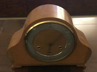 Large Size Vintage Smiths Mantle Clock Not Working Case In Good Condition Heavy