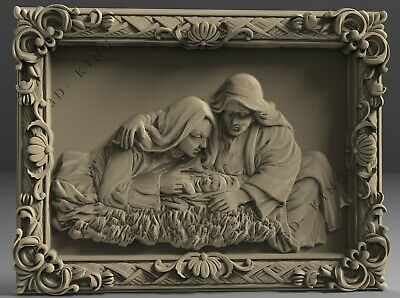 STL 3D Models # CHRISTMAS OF JESUS 3# for CNC 3D Printer Engraver Carving Aspire