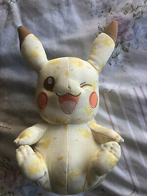 Pokemon Pikachu 20th Anniversary Collectors Edition Yellow Tomy Soft Toy