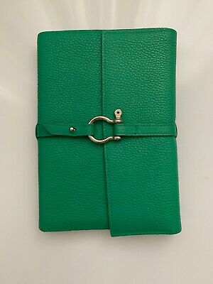 Authentic  New Green Burberry Notebook Cover Leather Agenda