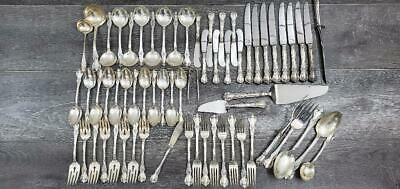 Old Master By Towle Sterling Silver Flatware Set 65 Pieces Pre-Owned