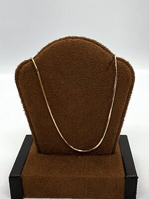 """Gorgeous 14KT Yellow Gold 585 Snake Style Chain Necklace - 1.5 MM - 30"""" Long"""