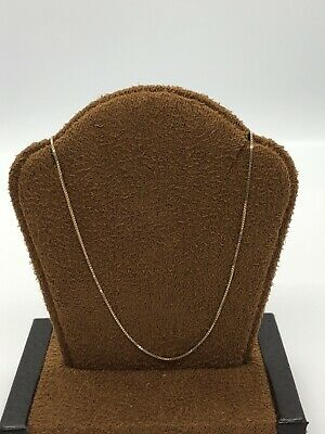 """Well Made 14KT Yellow Gold 585 Box Necklace Chain - 1 MM Wide - 17.5"""" Long"""