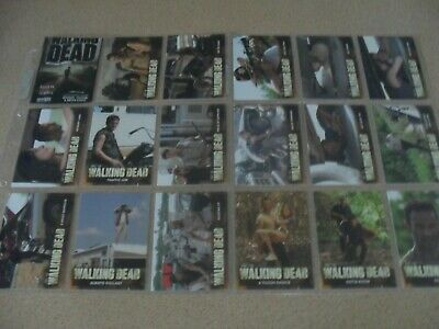 The WALKING DEAD - season 2 trading card base set