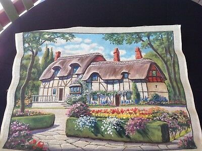 Large Unworked Tapestry. - Ann Hathaway's Cottage - 62x47cm