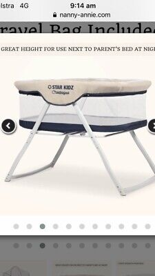 Compagno Baby portable Bassinet Star Kidz Blue