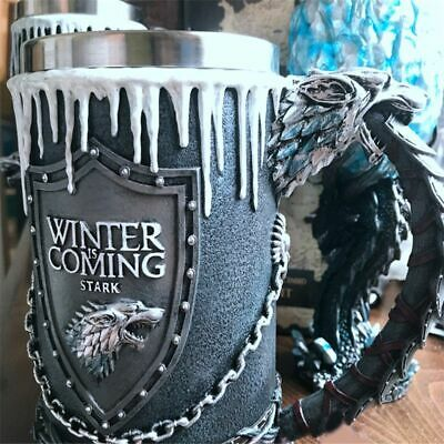 Coffee Mug Drinkware Cup Game of Thrones House Stark Designs Goblet Stainless