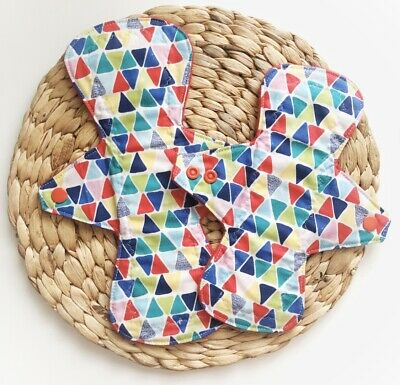 """Handmade Reusable Cloth Pads- Two Pack 8"""" and 10"""""""