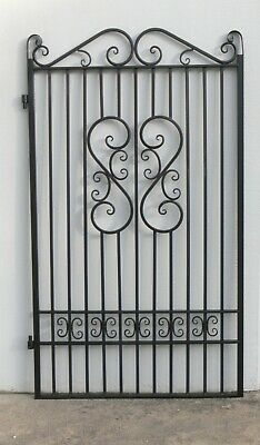 PEDESTRIAN GATE WROUGHT IRON  Black 1910 h x 1175 mm w