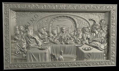 STL 3D Models # LORD'S SUPPER# for CNC 3d Printer Engraver Carving Aspire Artcam