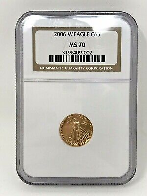 2006-W $5 Gold American Eagle Proof - Ms70 - Ngc