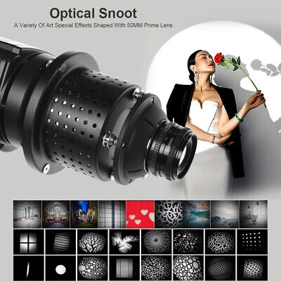 Profoto Mount Optical Conical Snoot Focalize Condenser With Lens For Flash Light