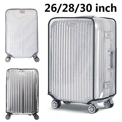 """Transparent Waterproof PVC Travel Luggage Protector Suitcase Cover 26""""-30"""""""