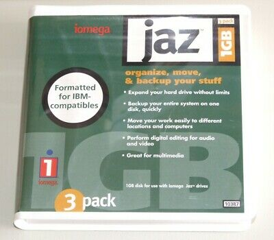 Unused 1Gb Iomega Jaz Disk With Case. PC formatted.