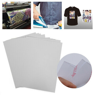 10X A4 Heat Transfer Iron-On Paper For Light & Dark Fabric Cloth T-shirt Hot