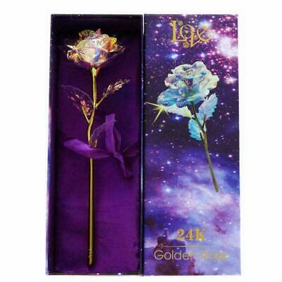 US Galaxy Rose Flower Valentine's Day Xmas Gift Romantic Crystal Rose With Box