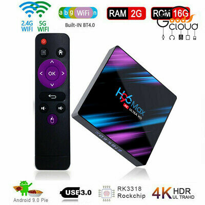 H96 Max Smart 9.0 Android TV Box RK3318 Quad Core 64 Bit UHD 4K VP9 H.265 2+16G