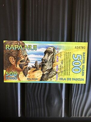 Rare,2011,500 Rongo,Easter Island,(Antartica) Banknote.(Unc).