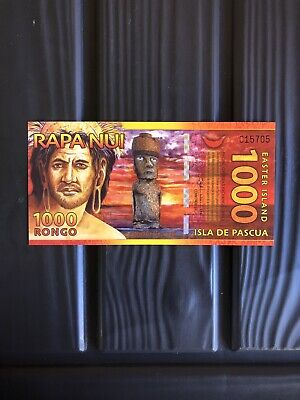 Rare,2011,1000 Rongo,Easter Island,(Antartica) Banknote.(Unc).